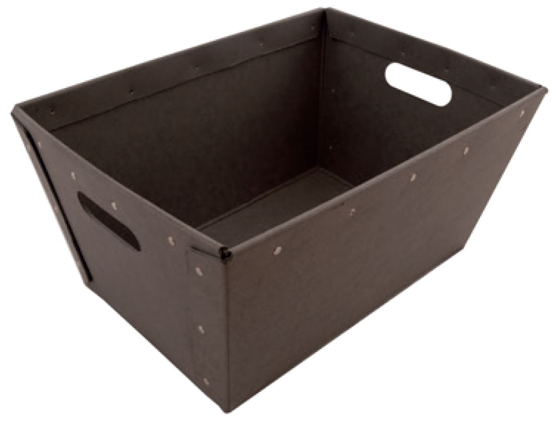 High-quality transport box from solid cardboard, riveted